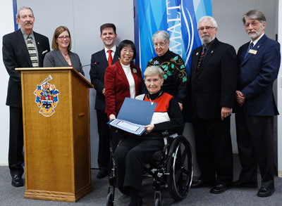 Kiwanis Club of Esquimalt members receive recongition from Town of Esquimalt
