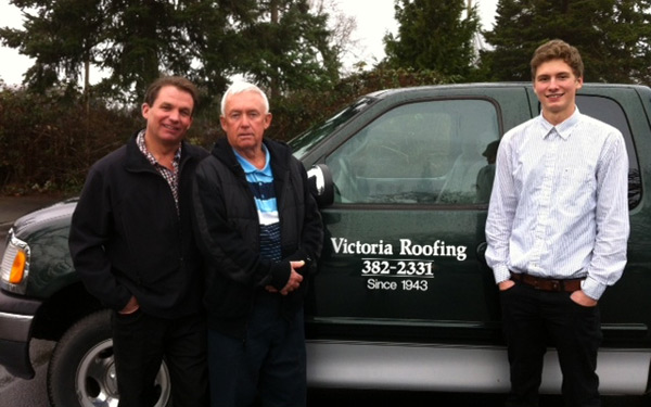 Bud Taylor, Rob Taylor, Brennan, Victoria Roofing, Victoria BC