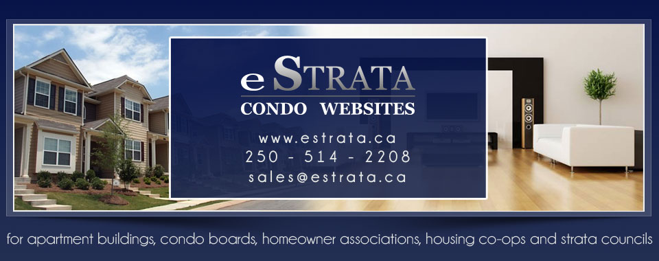 estrata builds strata websites, condo websites and homeowner association websites. Call us today at 250.514.2208.