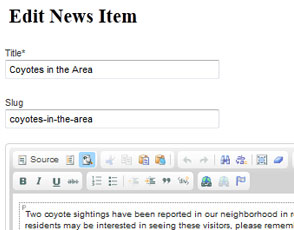 Add News and Articles to your eStrata condo or HOA website